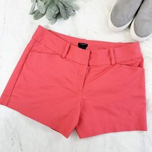 Ann Taylor Signature Fit Coral Twill Chino Shorts